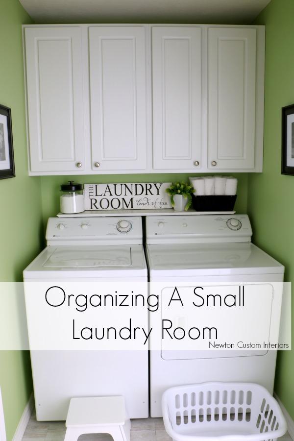 Organizing A Small Laundry Room - Newton Custom Interiors on Small Laundry Room Organization Ideas  id=18096