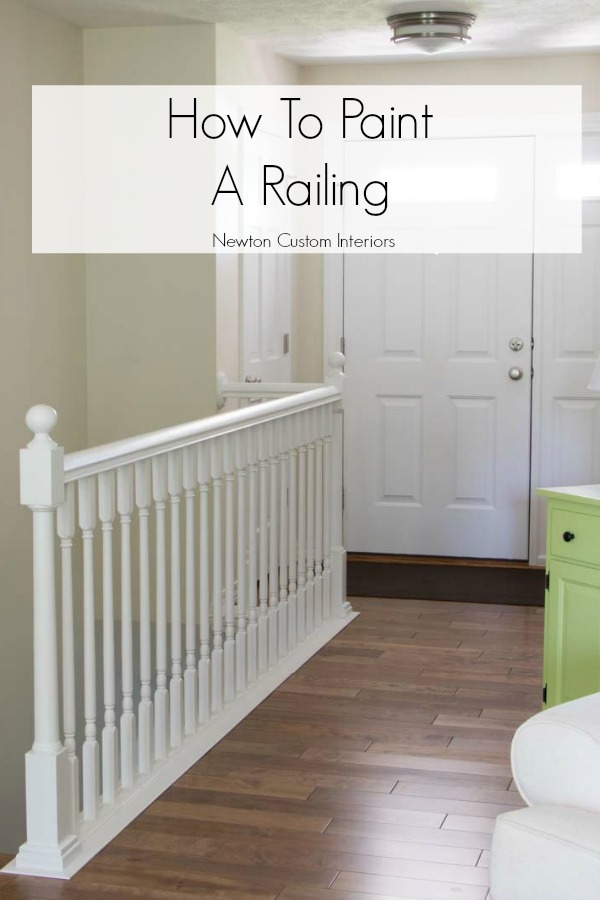 How To Paint Stair Railings Newton Custom Interiors   Painted Handrails For Stairs   Modern   German Style   House   Pressure Treated   Before And After