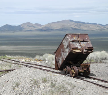 Ore cart at the Diana Mine, Berlin, Nevada, NV