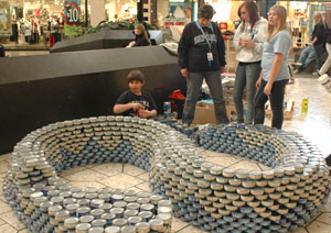 CANstruction, fundraiser for the Food Bank of Northern Nevada in Reno, Nevada, NV