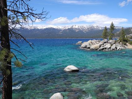 Crisp spring day at Sand Harbor on Lake Tahoe, Nevada, NV.