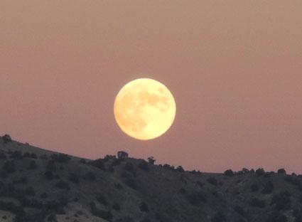 Moonrise over the Virginia Range, southeast of Reno, Nevada, NV