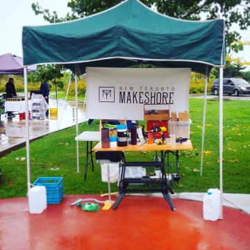 New Toronto Makeshore booth at Sam Smith Farmers' Market