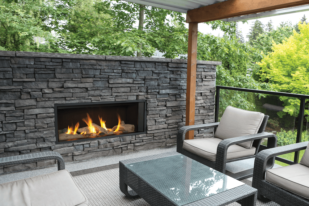 Valor L1 Outdoor Linear Gas Fireplace - Newtown Fireplace Shop