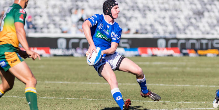 Newtown halfback Lane Ferling made his debut for the Jets against Wyong at the Central Coast Stadium, Gosford on Saturday. Photo: Mario Facchini (MAF Photography)