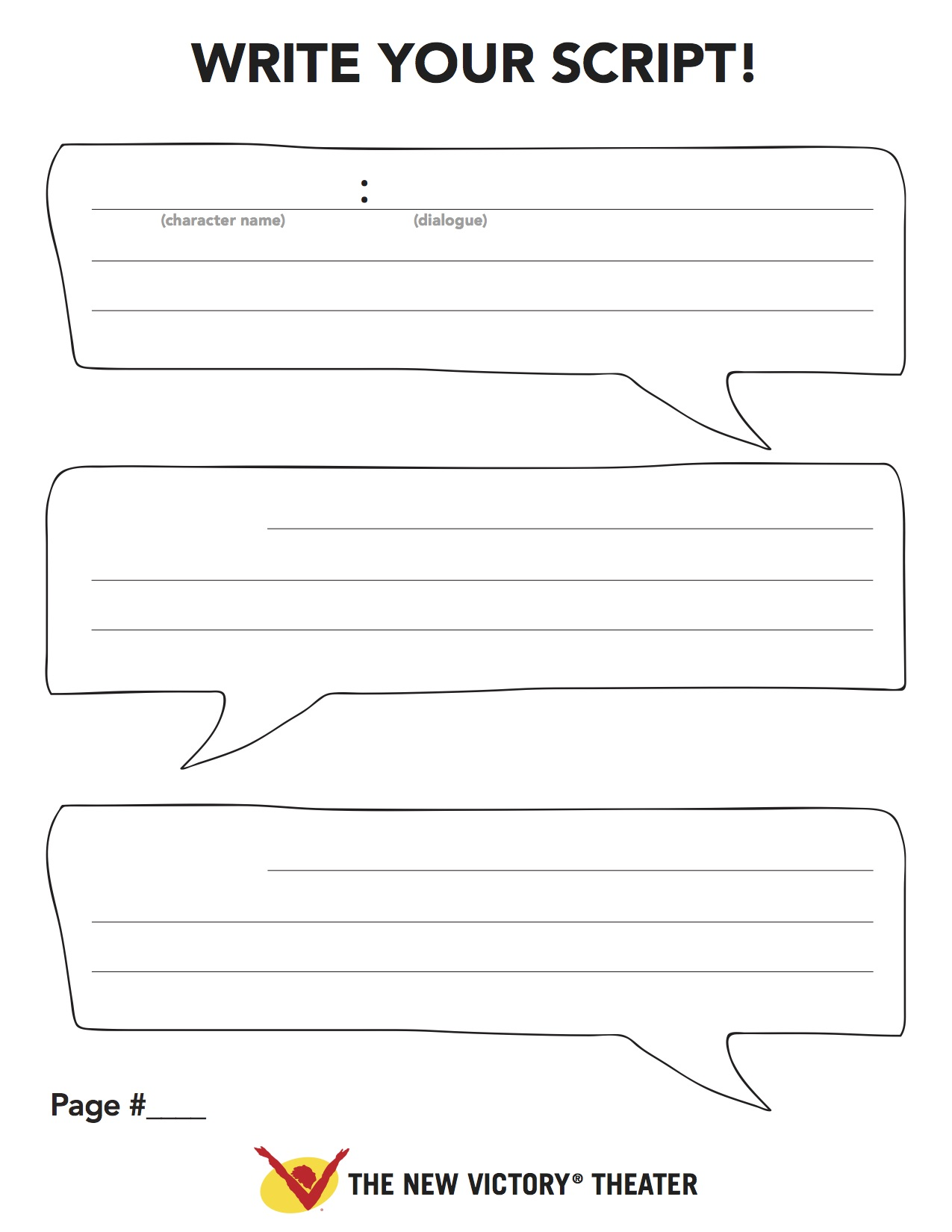 Template For Writing A Play Script For Kids