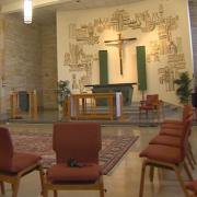 The chapel at Brebuef Jesuit Preparatory School in Indianapolis