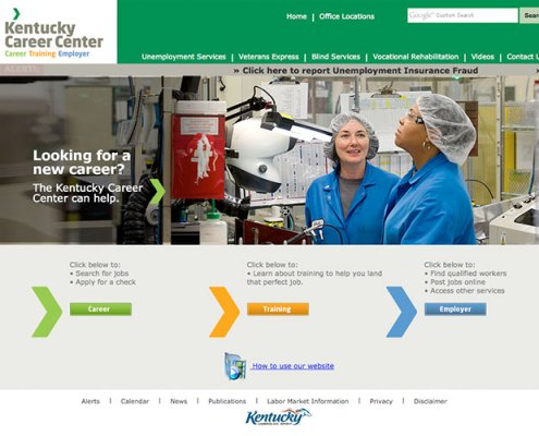 Kentucky Career Center New Website