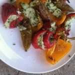 Basil and Goat Cheese Stuffed Peppers