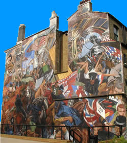 Cable Street anti fascist mural