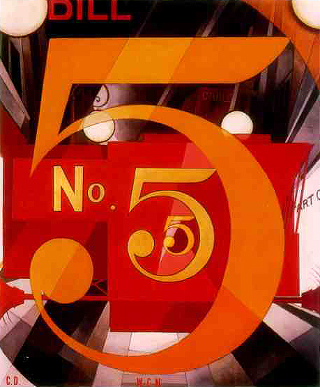 'I Saw The Figure 5 in Gold' by Charles Demuth