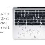 water on macbook
