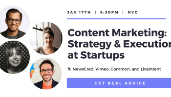 Content Marketing: Strategy & Execution at Startups