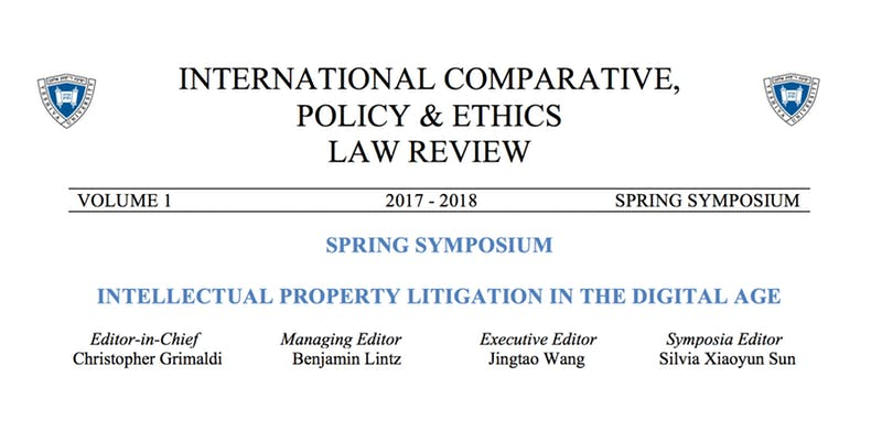 Spring Symposium Intellectual Property Litigation in the Digital Age