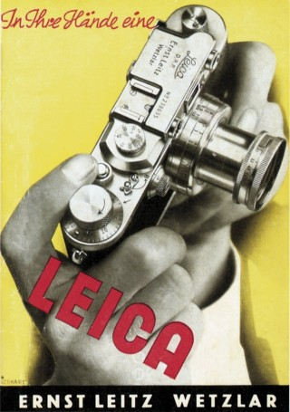 Leica advertising from 1935, when the camera was widely in use by Europeans.
