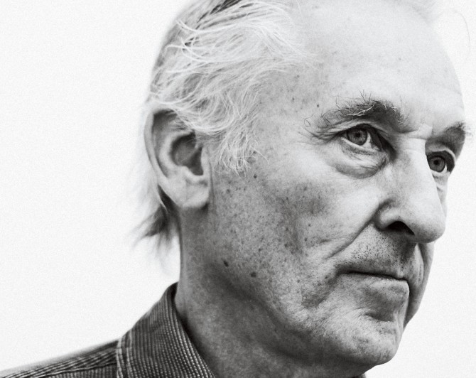 "Nearly everything about Los Angeles appealed to Ruscha. He wanted to live there, and he knew that the only thing he could be was an artist. ""I could see I was just born for the job, born to watch paint dry,"" he said."