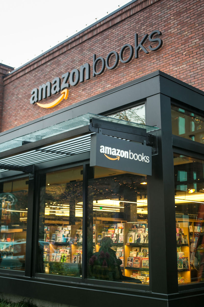 Amazon's new bricks-and-mortar bookstore, in Seattle's University Village, lets customers experience the tension between front-of-house and back-of-house as a kind of pleasure.
