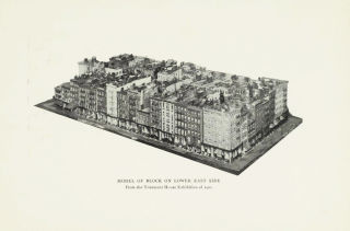 """""""Model of Block on Lower East Side,"""" from the Tenement House Exhibition of 1900."""