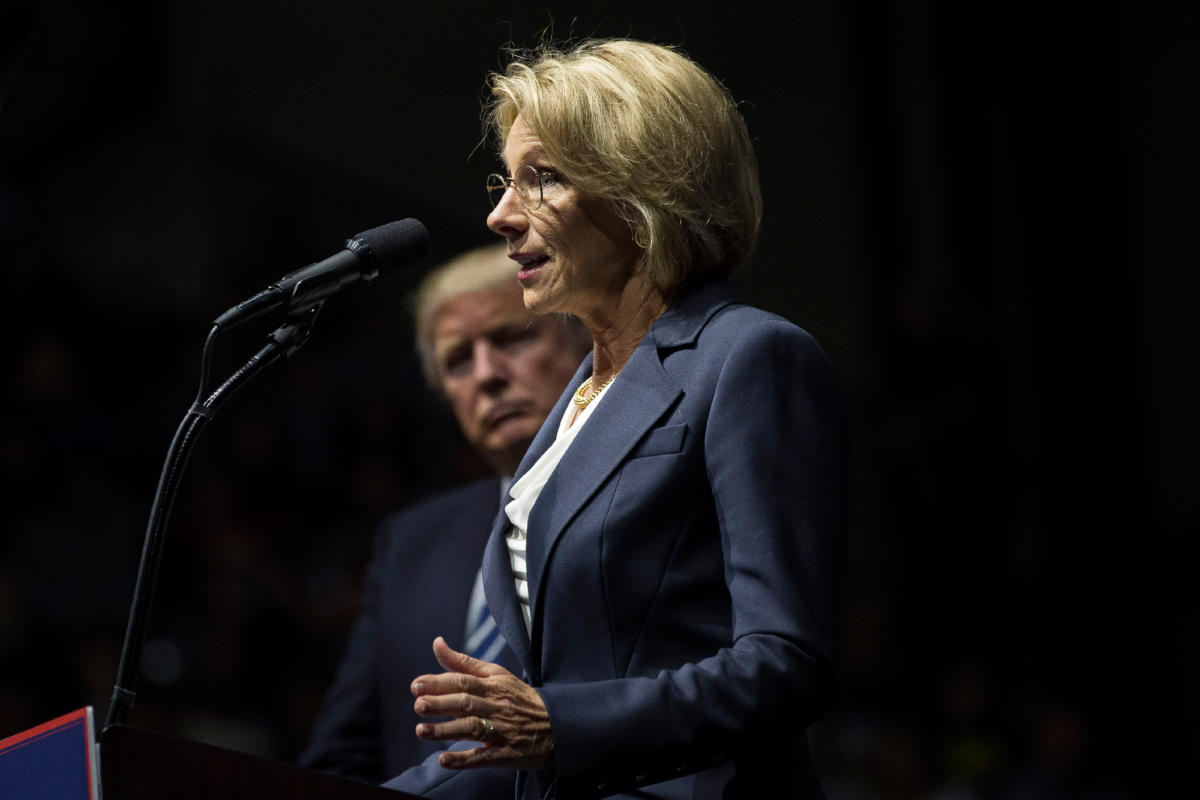 Betsy DeVos, Donald Trump's nominee for Secretary of Education, is a vocal proponent of charter schools, voucher programs, and virtual education—but not of public schools.