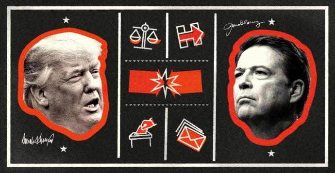 Image result for Trump Vs Comey --The New Yorker