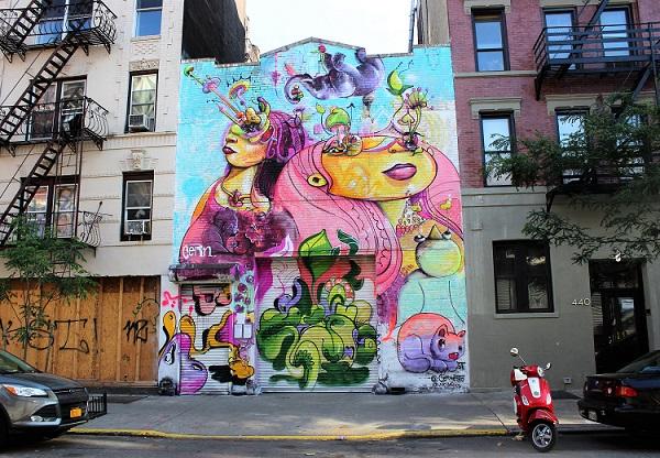 Street_art_building_vespa_NYC