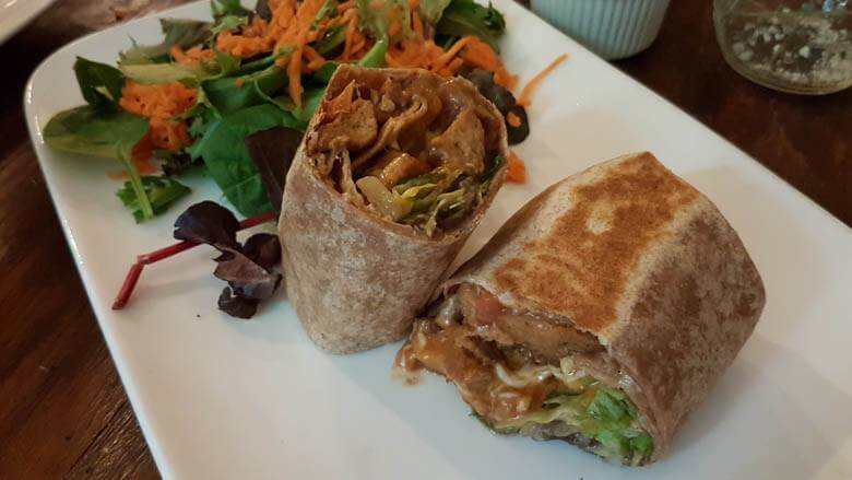 vegansk burrito