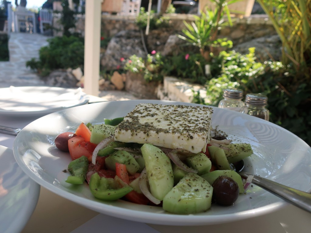 Greek salad at Thalassa, Sivota