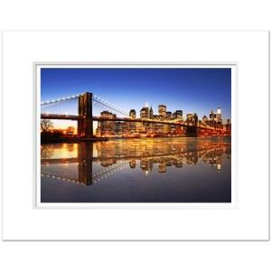 Brooklyn Bridge Evening Panorama Art Print BBC001 MW1620