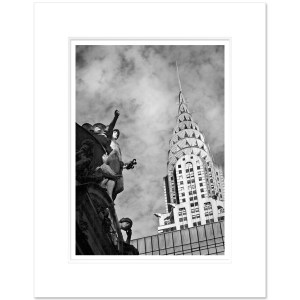Chrysler and Grand Central Black and White Art Print CHB004 MW1620