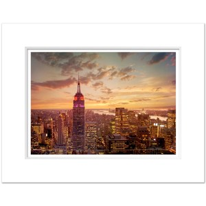 Empire State Building Sunset Panorama Art Print ESBC003 MW1620