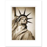 Statue of Liberty Close-Up Sepia Art Print LIB003 MW1620