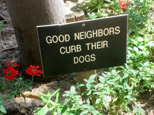 The Amy Vanderbilt of Dog Shit Signs