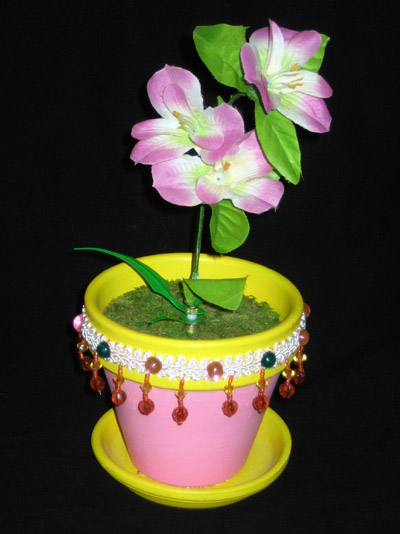 Flower Pot Clock