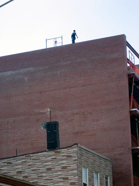 Guy Standing on Ledge