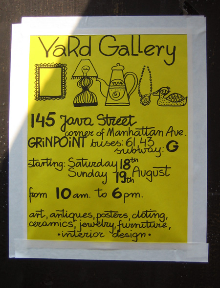 Yard Gallery Flyer