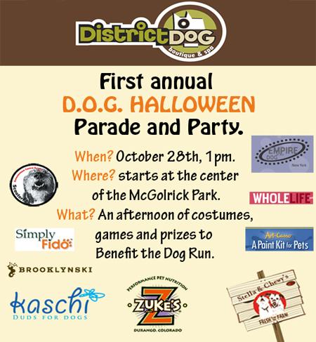 Halloween Flyer, District Dog