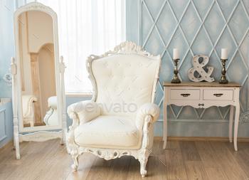 Superieur Luxury Armchair In A Plain White Interior