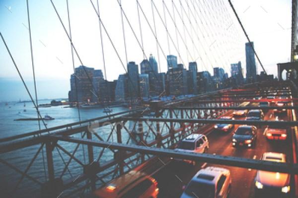 Brooklyn Bridge New York City Urban Metropolitan Concept