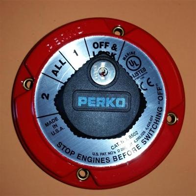 Perko Battery Selector Switch W Key