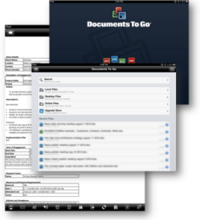 Documents To Go for iPad screenshot