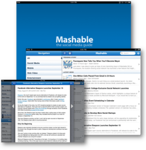 MAshable for iPad screenshot