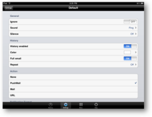 Pushmail for iPad screenshot
