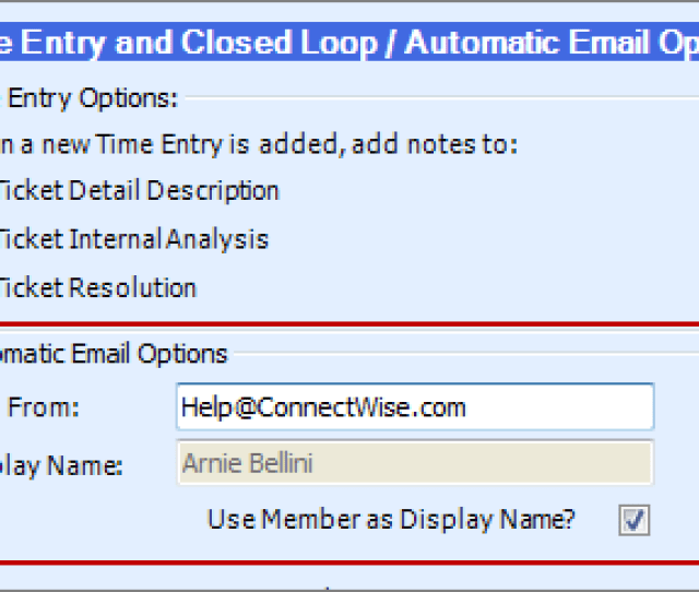Connectwise Board Setup Use Member Name As Display Name