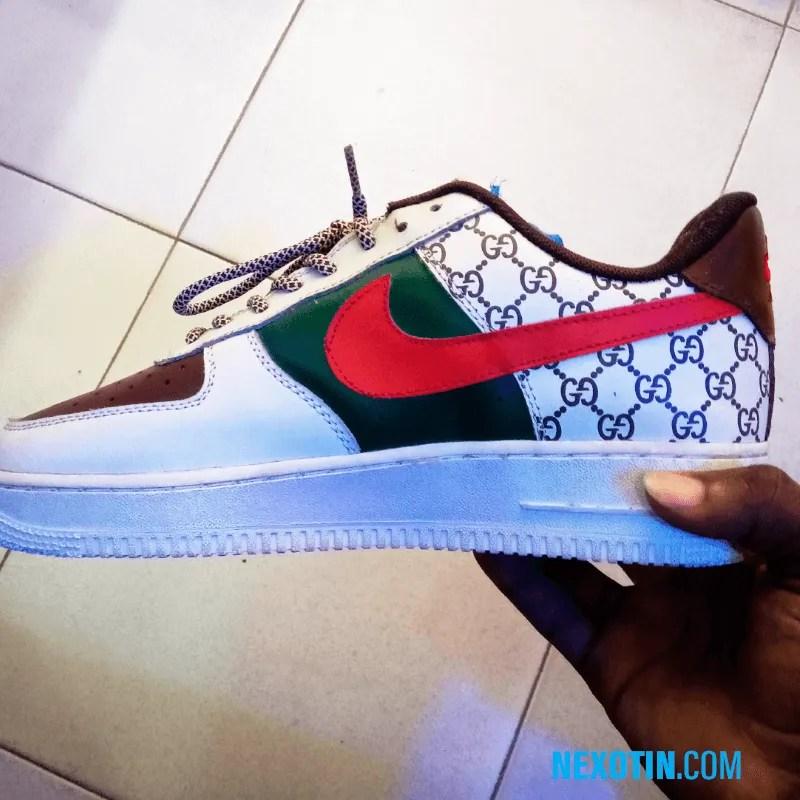 Nike Air Force 1 X Gucci Customized