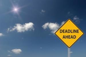 deadline ahead