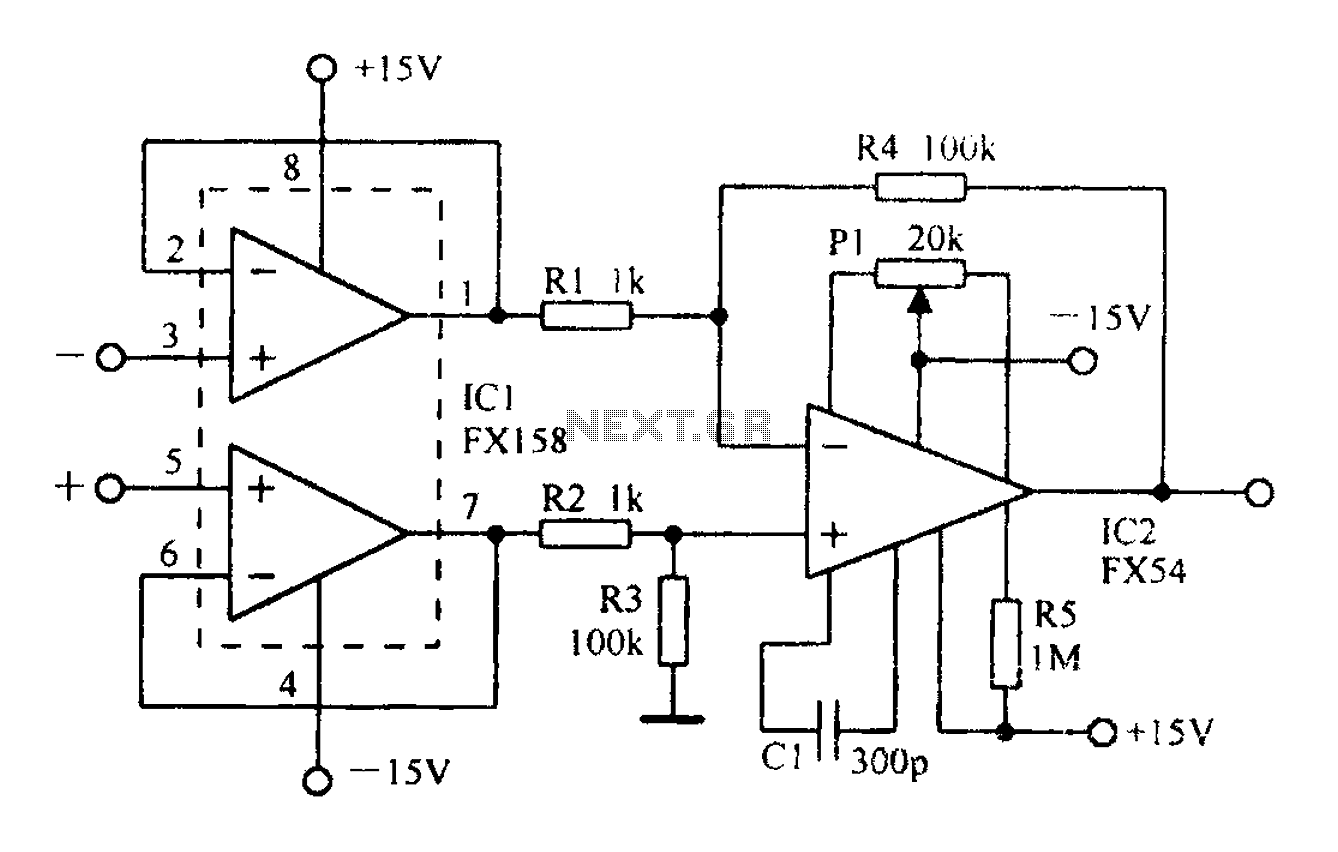 A Differential Amplifier Having Input Impedance Equal To