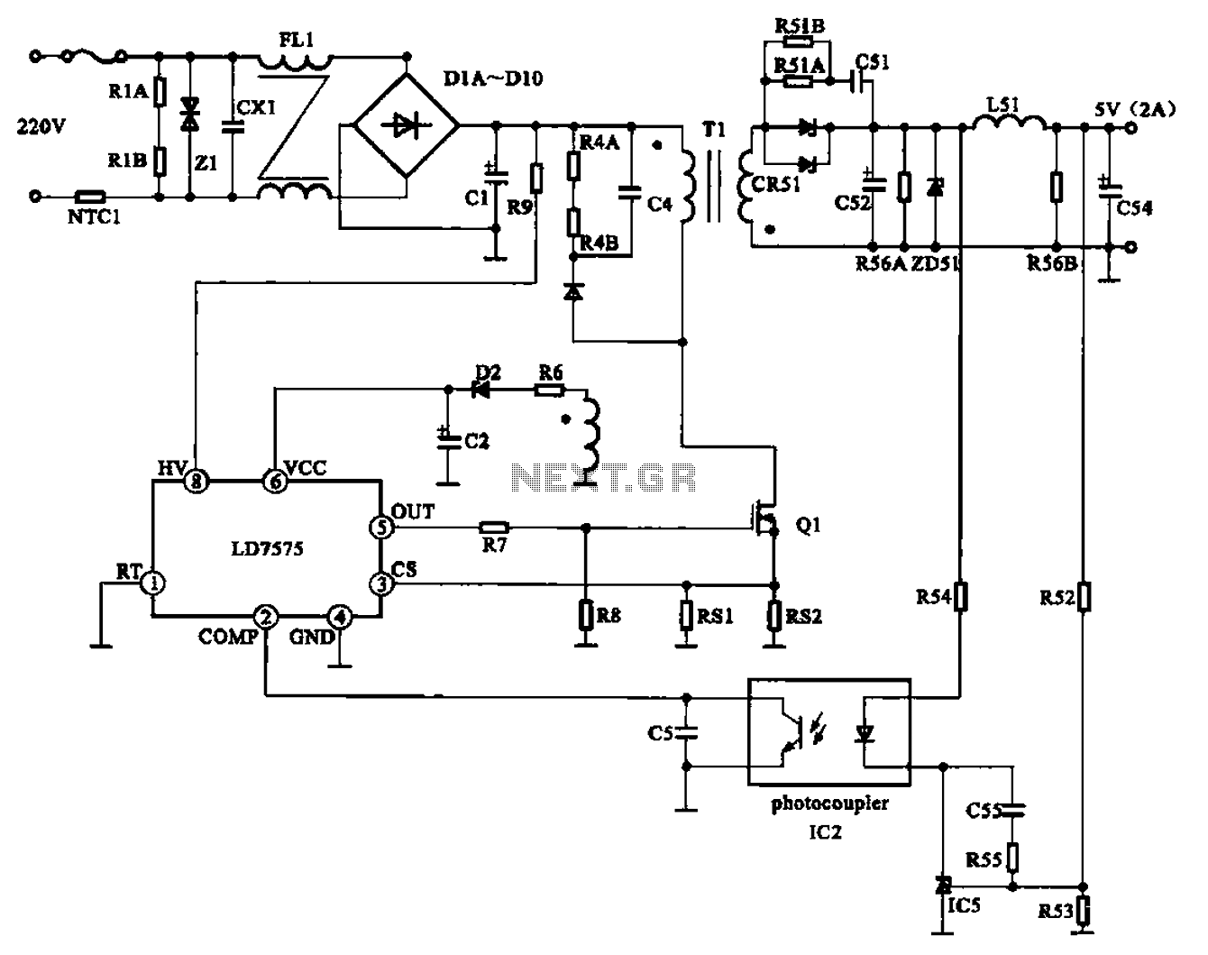 9 Volt Power Supply Schematic