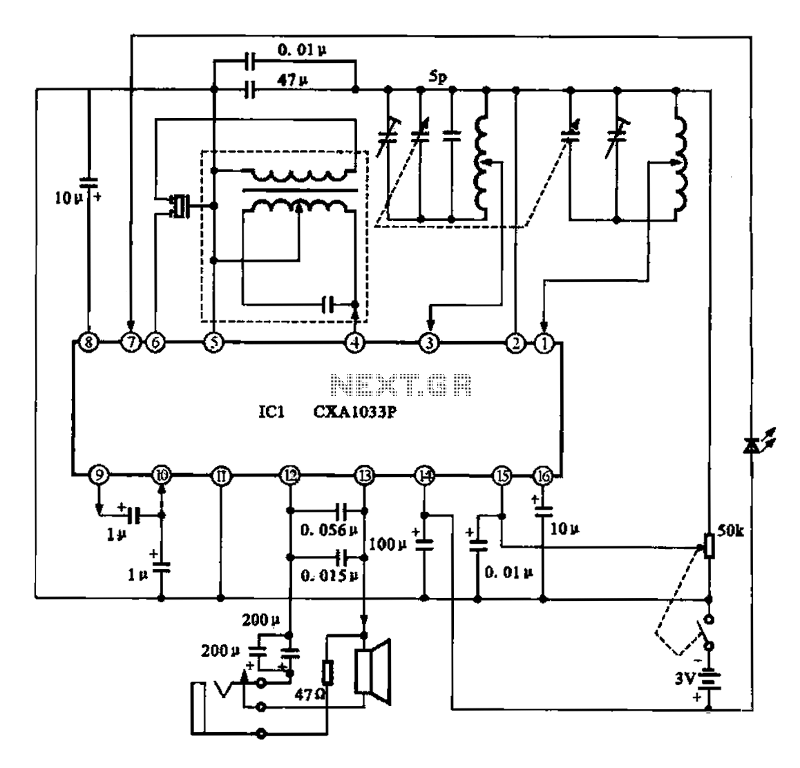 Am Radio Circuit Chip Under Am Radio Circuits