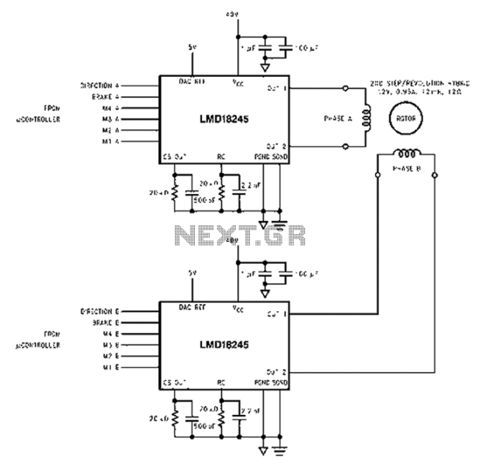 Stepper motor control circuit diagram caferacer1firts control circuit diagram schematic automations stepper motor based lmd18245 bipolar sciox Choice Image