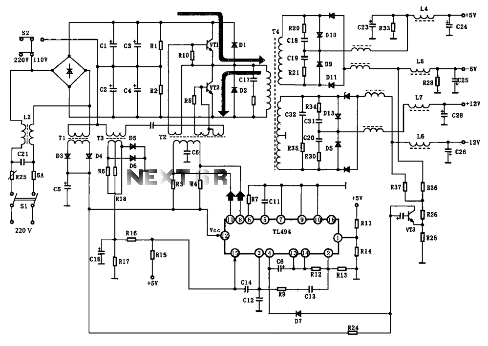 Enchanting Dell Power Supply Wiring Diagram Pattern - Schematic ...